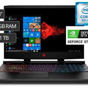 "LAPTOP HP OMEN 15-DC0007LA I7-8750H ( 2RJ31LA ) GAMING | 15.6"" - I7 - 1TB+128M.2 - 16GB - GTX1070 8G - W10"