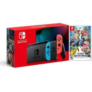 Nintendo Switch 2019 Neon Bateria Extendida + Super Smash Bro Ultimate