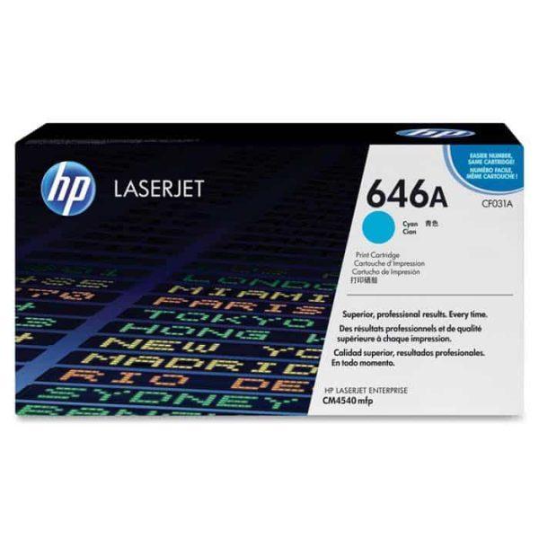 TONER HP CF031A (646A) LASERJET CM4540 CYAN