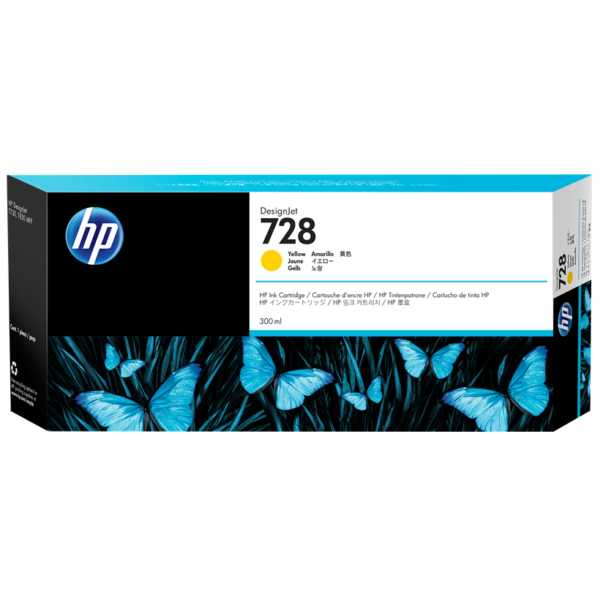 TINTA HP F9K15A (728A) 300ML YELLOW