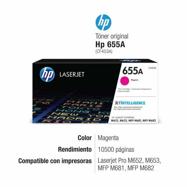 TONER HP CF453A (655A) MAGENTA ENT M652 / M681 10.5KPG